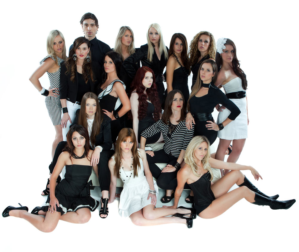 victorias models agency group photo